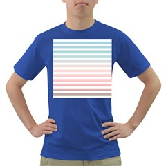 Horizontal Pinstripes In Soft Colors Dark T-shirt by shawlin