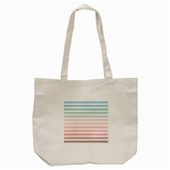 Horizontal Pinstripes In Soft Colors Tote Bag (cream) by shawlin
