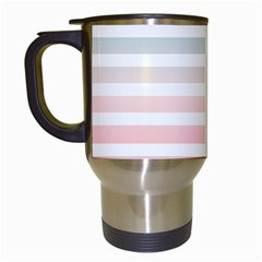 Horizontal Pinstripes In Soft Colors Travel Mugs (white) by shawlin