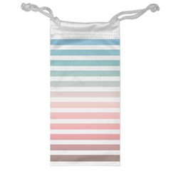 Horizontal Pinstripes In Soft Colors Jewelry Bag by shawlin
