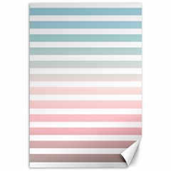 Horizontal Pinstripes In Soft Colors Canvas 12  X 18  by shawlin