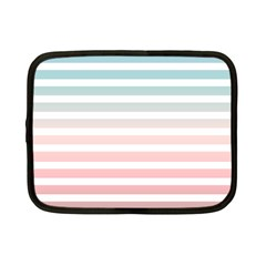 Horizontal Pinstripes In Soft Colors Netbook Case (small) by shawlin