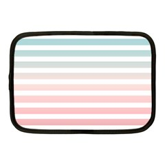 Horizontal Pinstripes In Soft Colors Netbook Case (medium) by shawlin