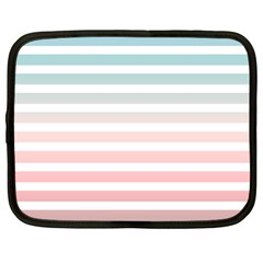 Horizontal Pinstripes In Soft Colors Netbook Case (large) by shawlin
