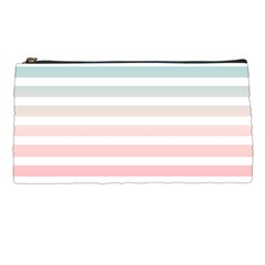 Horizontal Pinstripes In Soft Colors Pencil Cases by shawlin
