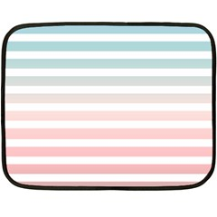 Horizontal Pinstripes In Soft Colors Double Sided Fleece Blanket (mini)  by shawlin