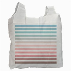 Horizontal Pinstripes In Soft Colors Recycle Bag (two Side) by shawlin
