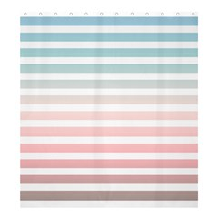 Horizontal Pinstripes In Soft Colors Shower Curtain 66  X 72  (large)  by shawlin