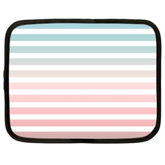 Horizontal Pinstripes In Soft Colors Netbook Case (xl) by shawlin