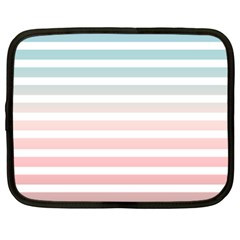 Horizontal Pinstripes In Soft Colors Netbook Case (xxl) by shawlin