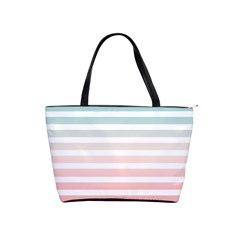 Horizontal Pinstripes In Soft Colors Classic Shoulder Handbag by shawlin