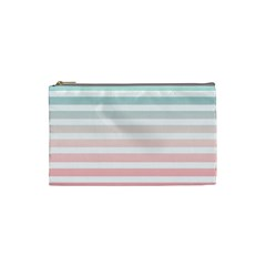 Horizontal Pinstripes In Soft Colors Cosmetic Bag (small) by shawlin