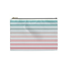 Horizontal Pinstripes In Soft Colors Cosmetic Bag (medium) by shawlin