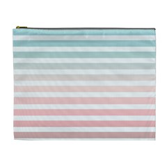 Horizontal Pinstripes In Soft Colors Cosmetic Bag (xl) by shawlin