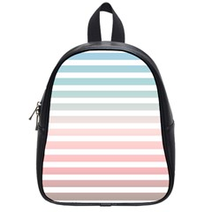 Horizontal Pinstripes In Soft Colors School Bag (small) by shawlin