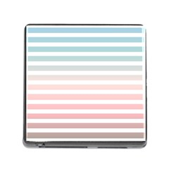 Horizontal Pinstripes In Soft Colors Memory Card Reader (square 5 Slot) by shawlin