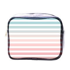 Horizontal Pinstripes In Soft Colors Mini Toiletries Bag (one Side) by shawlin