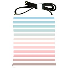 Horizontal Pinstripes In Soft Colors Shoulder Sling Bag by shawlin
