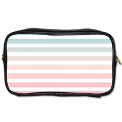 Horizontal Pinstripes In Soft Colors Toiletries Bag (two Sides) by shawlin