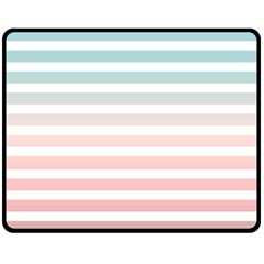 Horizontal Pinstripes In Soft Colors Fleece Blanket (medium)  by shawlin