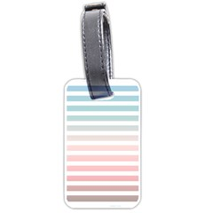 Horizontal Pinstripes In Soft Colors Luggage Tag (one Side) by shawlin