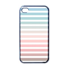 Horizontal Pinstripes In Soft Colors Iphone 4 Case (black) by shawlin