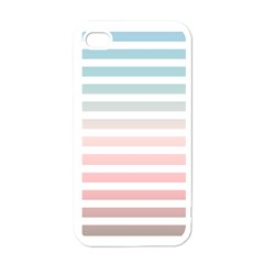 Horizontal Pinstripes In Soft Colors Iphone 4 Case (white) by shawlin