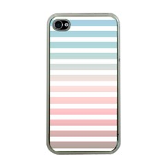 Horizontal Pinstripes In Soft Colors Iphone 4 Case (clear) by shawlin