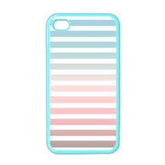 Horizontal Pinstripes In Soft Colors Iphone 4 Case (color) by shawlin