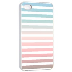 Horizontal Pinstripes In Soft Colors Iphone 4/4s Seamless Case (white) by shawlin