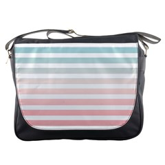 Horizontal Pinstripes In Soft Colors Messenger Bag by shawlin