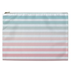 Horizontal Pinstripes In Soft Colors Cosmetic Bag (xxl) by shawlin