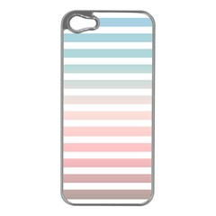 Horizontal Pinstripes In Soft Colors Iphone 5 Case (silver) by shawlin