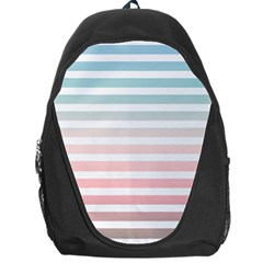 Horizontal Pinstripes In Soft Colors Backpack Bag by shawlin