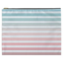 Horizontal Pinstripes In Soft Colors Cosmetic Bag (xxxl) by shawlin