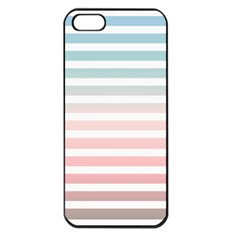 Horizontal Pinstripes In Soft Colors Iphone 5 Seamless Case (black) by shawlin