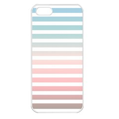 Horizontal Pinstripes In Soft Colors Iphone 5 Seamless Case (white) by shawlin