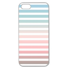 Horizontal Pinstripes In Soft Colors Apple Seamless Iphone 5 Case (clear) by shawlin