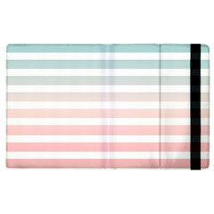 Horizontal Pinstripes In Soft Colors Apple Ipad 2 Flip Case by shawlin