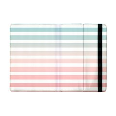 Horizontal Pinstripes In Soft Colors Apple Ipad Mini Flip Case by shawlin