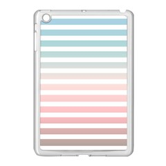 Horizontal Pinstripes In Soft Colors Apple Ipad Mini Case (white) by shawlin