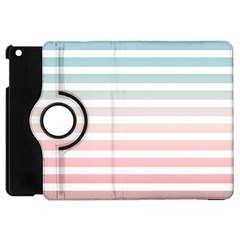 Horizontal Pinstripes In Soft Colors Apple Ipad Mini Flip 360 Case by shawlin
