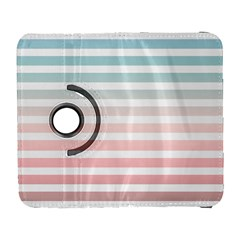 Horizontal Pinstripes In Soft Colors Samsung Galaxy S  Iii Flip 360 Case by shawlin