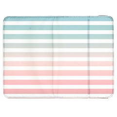 Horizontal Pinstripes In Soft Colors Samsung Galaxy Tab 7  P1000 Flip Case by shawlin