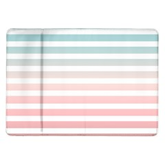 Horizontal Pinstripes In Soft Colors Samsung Galaxy Tab 10 1  P7500 Flip Case by shawlin