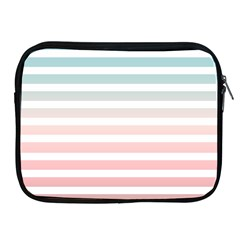 Horizontal Pinstripes In Soft Colors Apple Ipad 2/3/4 Zipper Cases by shawlin