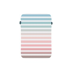 Horizontal Pinstripes In Soft Colors Apple Ipad Mini Protective Soft Cases by shawlin