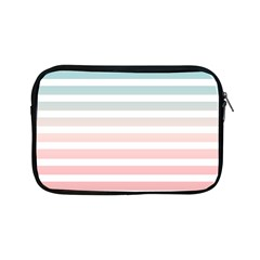 Horizontal Pinstripes In Soft Colors Apple Ipad Mini Zipper Cases by shawlin