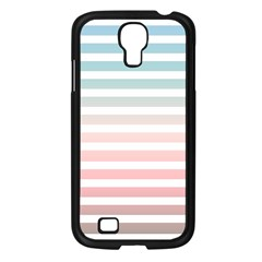 Horizontal Pinstripes In Soft Colors Samsung Galaxy S4 I9500/ I9505 Case (black) by shawlin