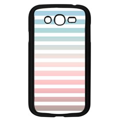 Horizontal Pinstripes In Soft Colors Samsung Galaxy Grand Duos I9082 Case (black) by shawlin